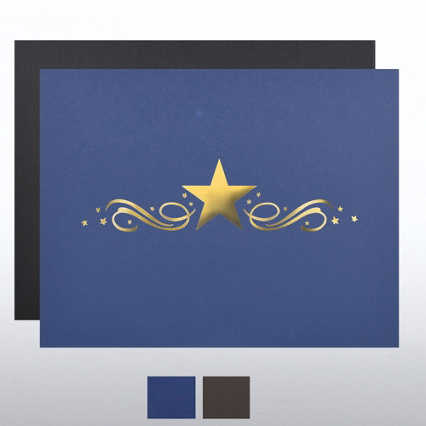 Foil Certificate Cover - Center Stars