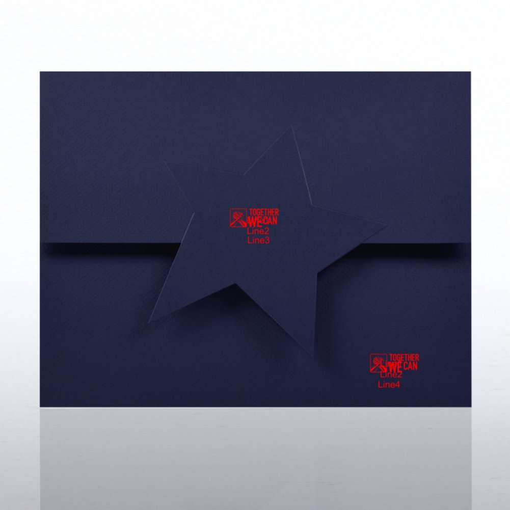 View larger image of Embossed Star Certificate Folder