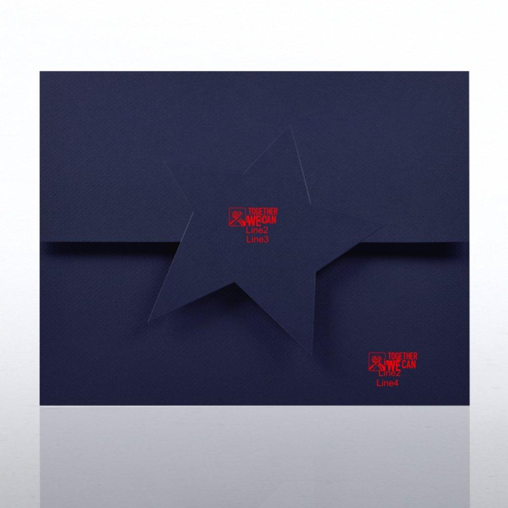 Embossed Star Certificate Folder
