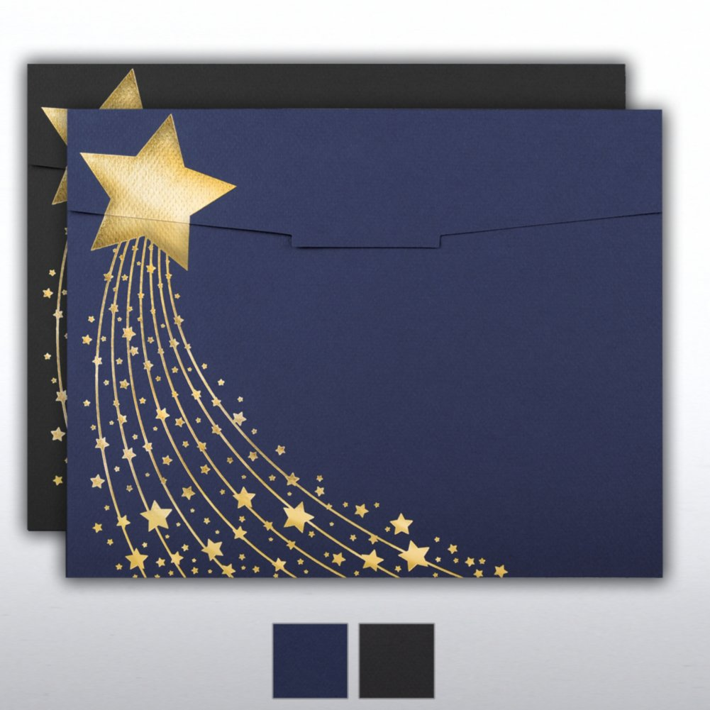 View larger image of Foil-Stamped Certificate Folder - Shooting Star