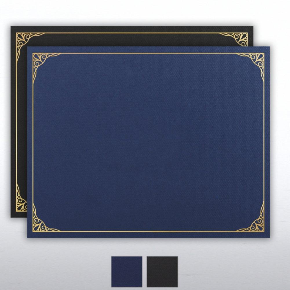 Foil Stamped Certificate Cover - Filigree Border