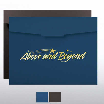Above and Beyond Foil Certificate Folder