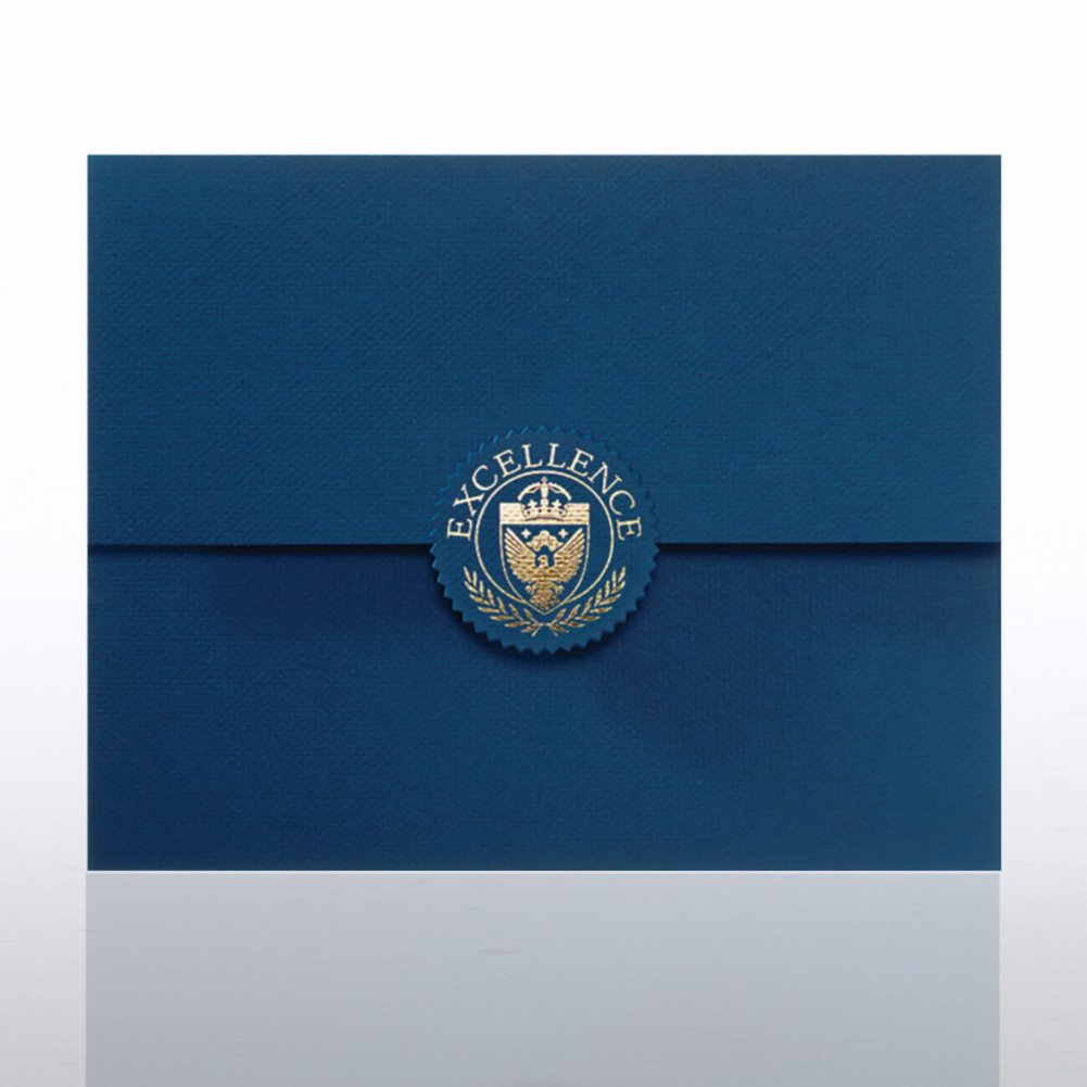 View larger image of Excellence Seal Serrated Flap Foil Certificate Folder
