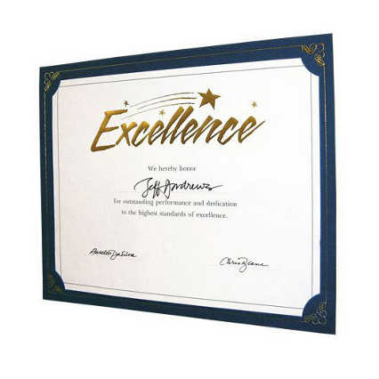 Praise Displays - Blue - Gold Foil
