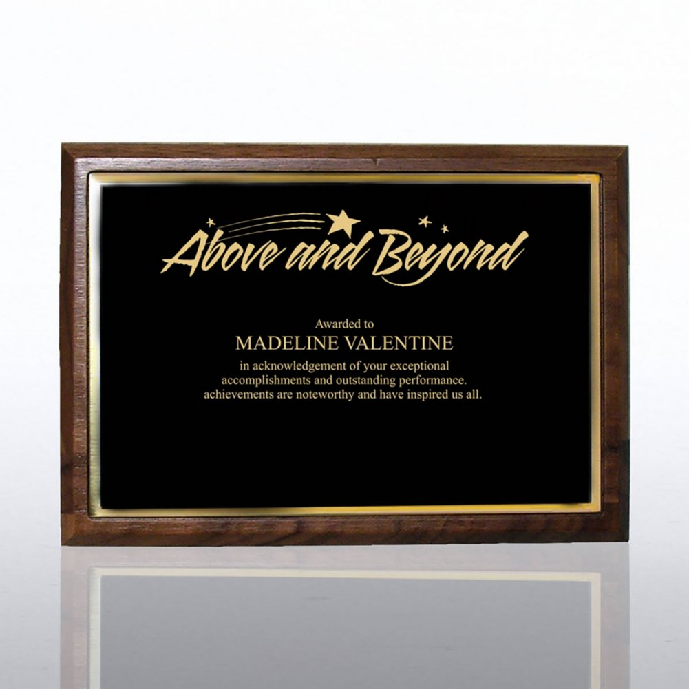 View larger image of Prestigious Award Plaque - Full-Size - Black w/ Gold