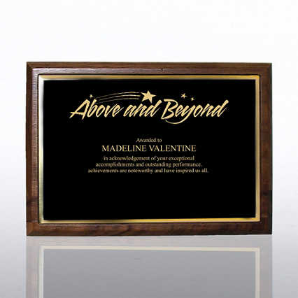 Prestigious Award Plaque - Full-Size - Black w/ Gold