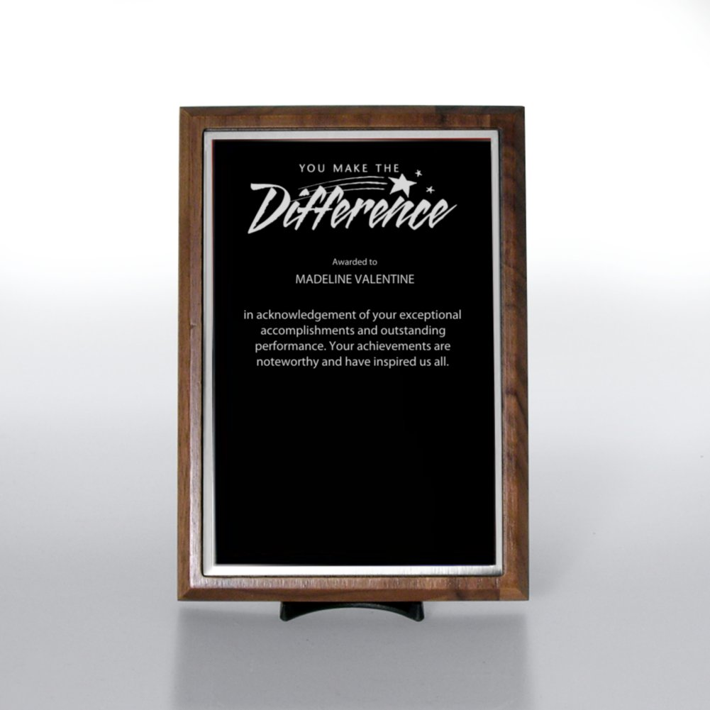 View larger image of Prestigious Award Plaque - Half-Size - Black w/ Silver