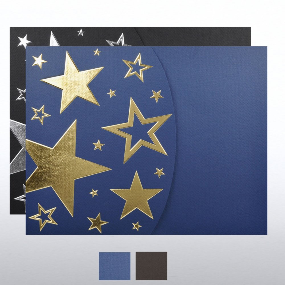 View larger image of Foil-Stamped Embossed Certificate Folder - Bright Stars