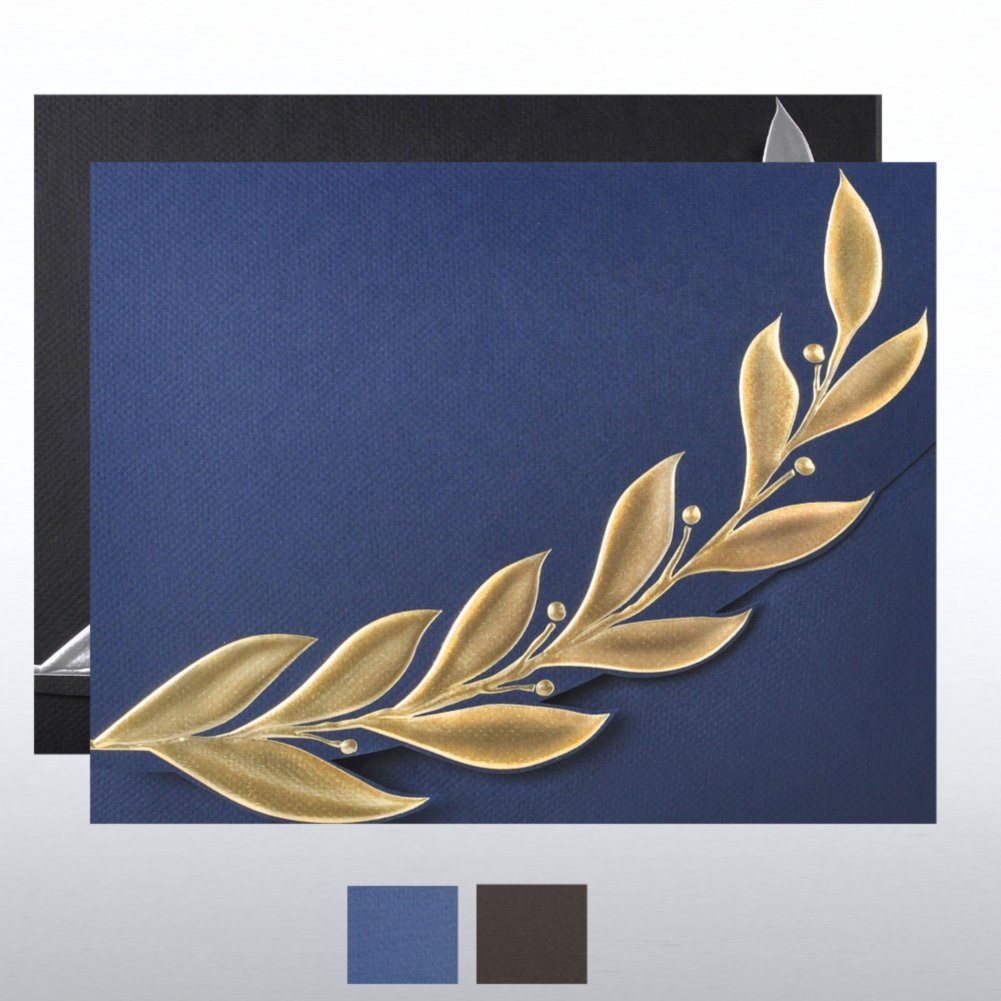 View larger image of Foil-Stamped Embossed Certificate Folder - Elite Laurel