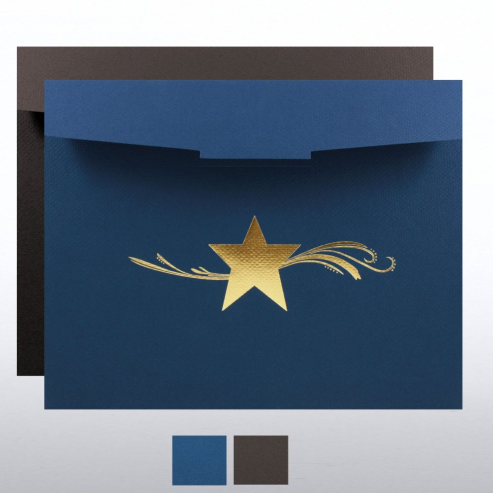 View larger image of Star Dream Foil Certificate Folder
