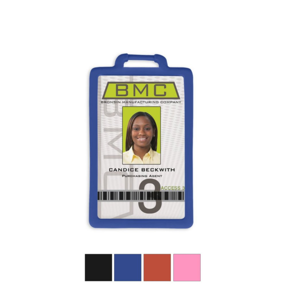 View larger image of Vertical Silicone Badge Holder