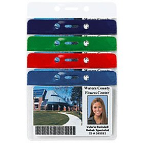 View larger image of Colored Bar Badge Holders - Horizontal Credit Card