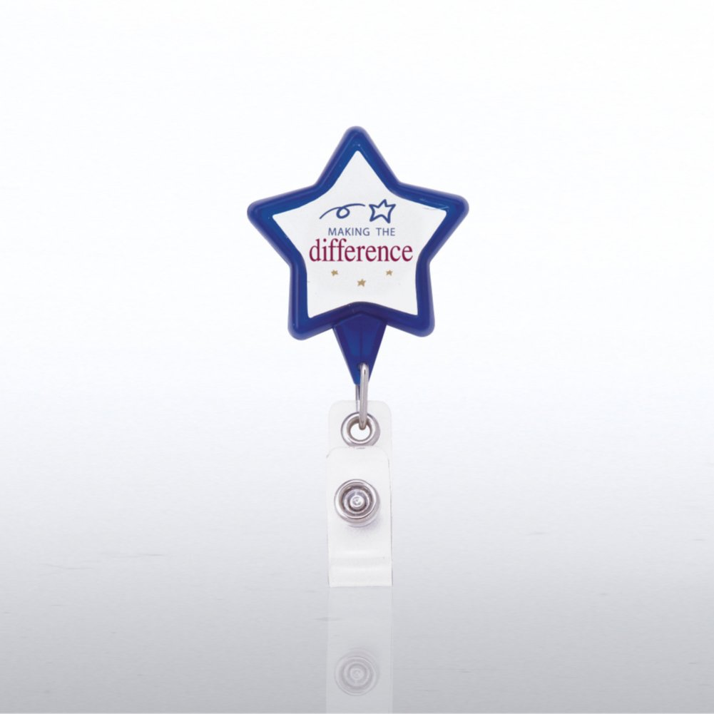 View larger image of Themed Badge Reel - Star - Making the Difference