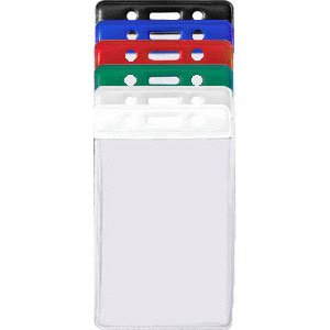 View larger image of Colored Bar Badge Holders - Vertical Credit Card