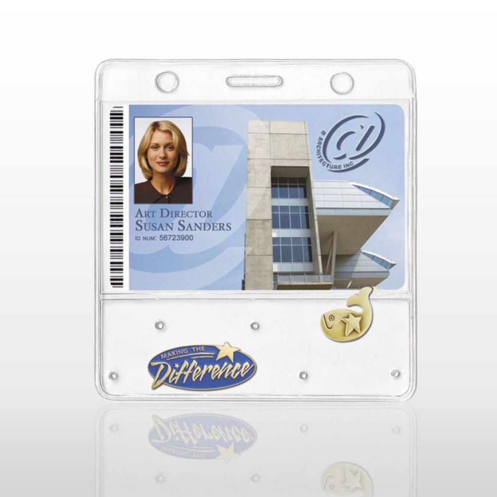"Badge Holder - Lapel Pin Display - 3 3/4"" x 2 5/8 Horizontal"