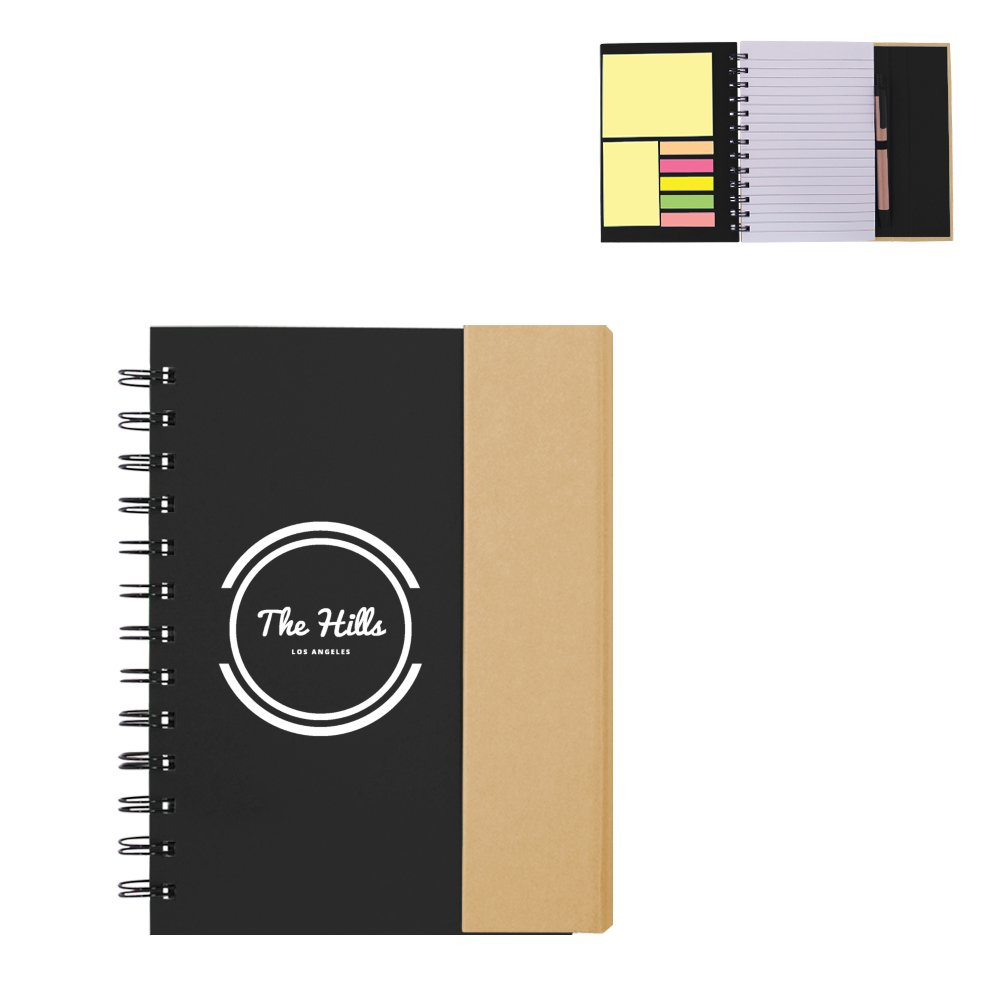 View larger image of Add Your Logo: Eco Jotter Note and Pen Set
