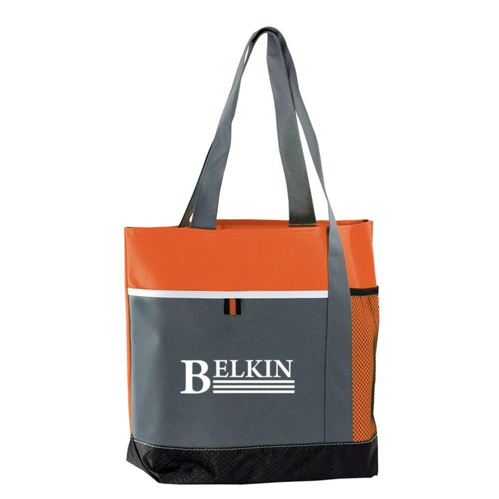 View larger image of Add Your Logo: Jazzy Tote Bag