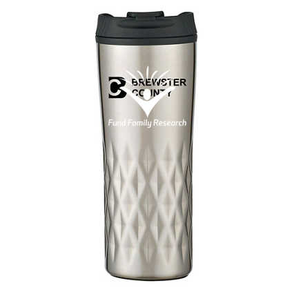 Add Your Logo: Textured Stainless Steel Travel Mug