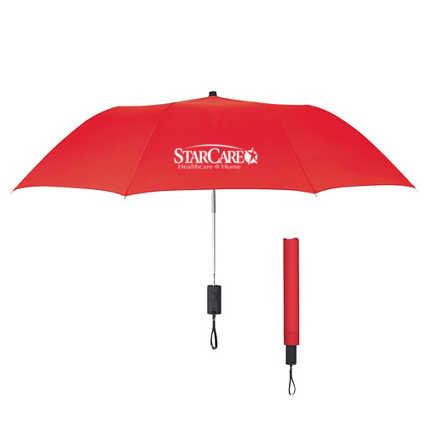 "Add Your Logo: 44"" Large Arc Umbrella"