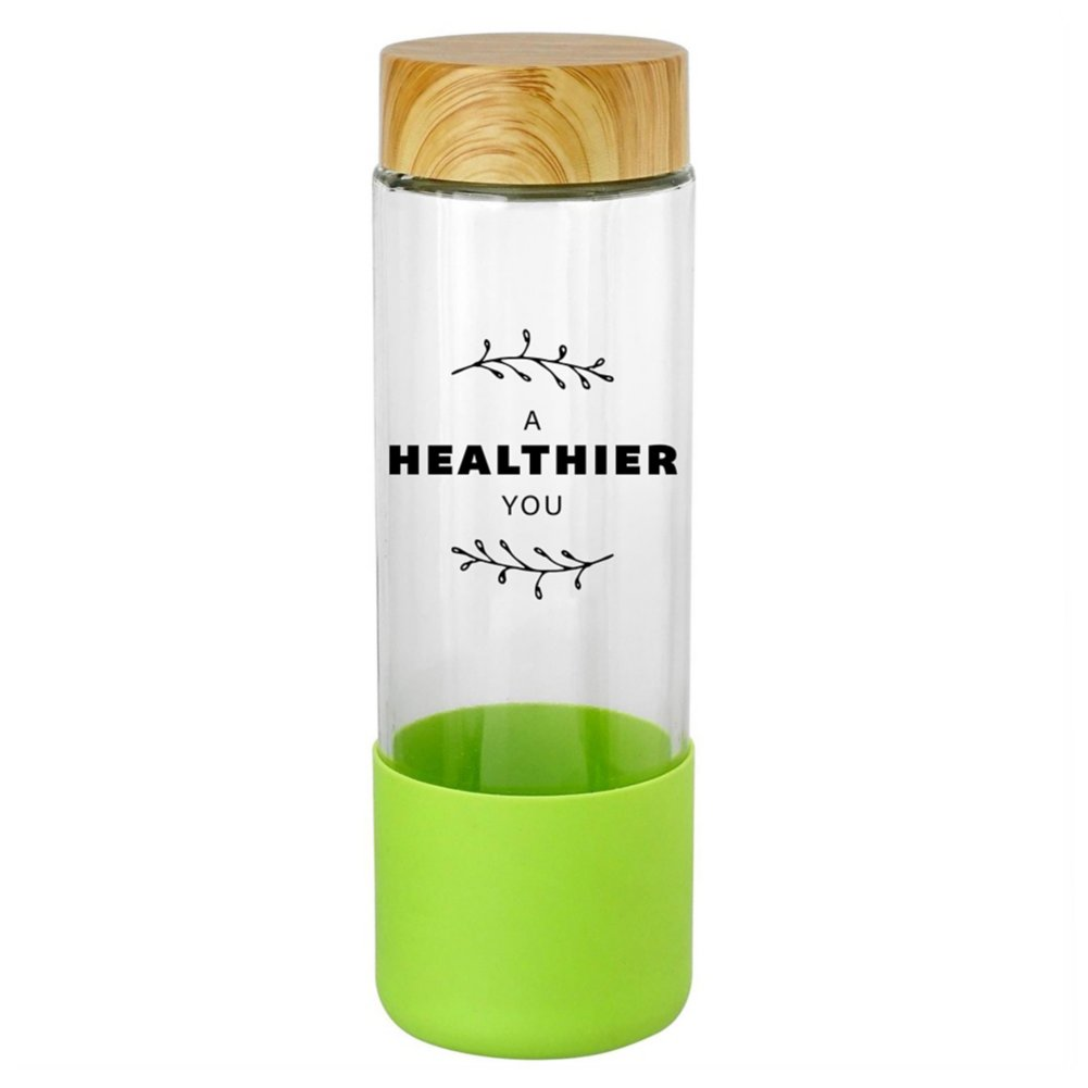 View larger image of Add Your Logo:  SiliCan Glass Water Bottle