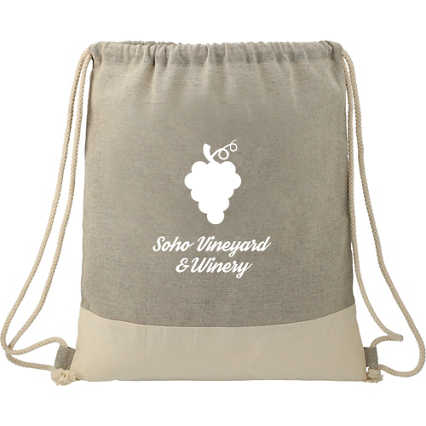 Add Your Logo:  Recycled Drawstring Bag