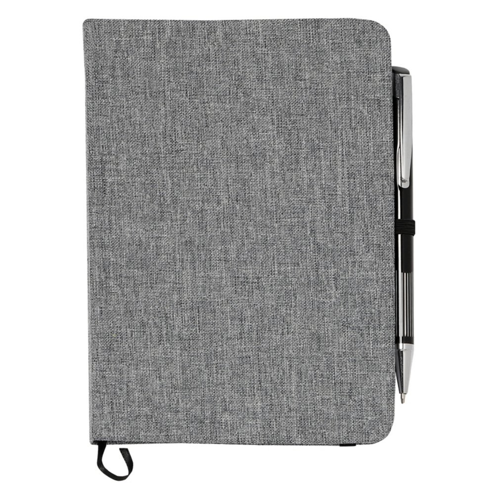 View larger image of Add Your Logo:  Naturally Heathered Journal