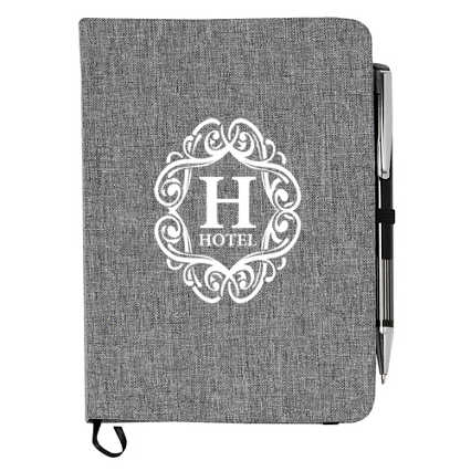 Add Your Logo:  Naturally Heathered Journal