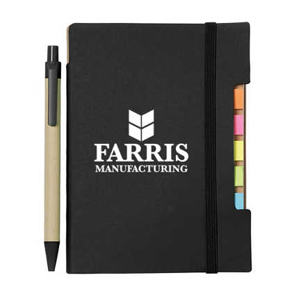 Add Your Logo:  Eco-Positive Recycled Journal & Pen Set