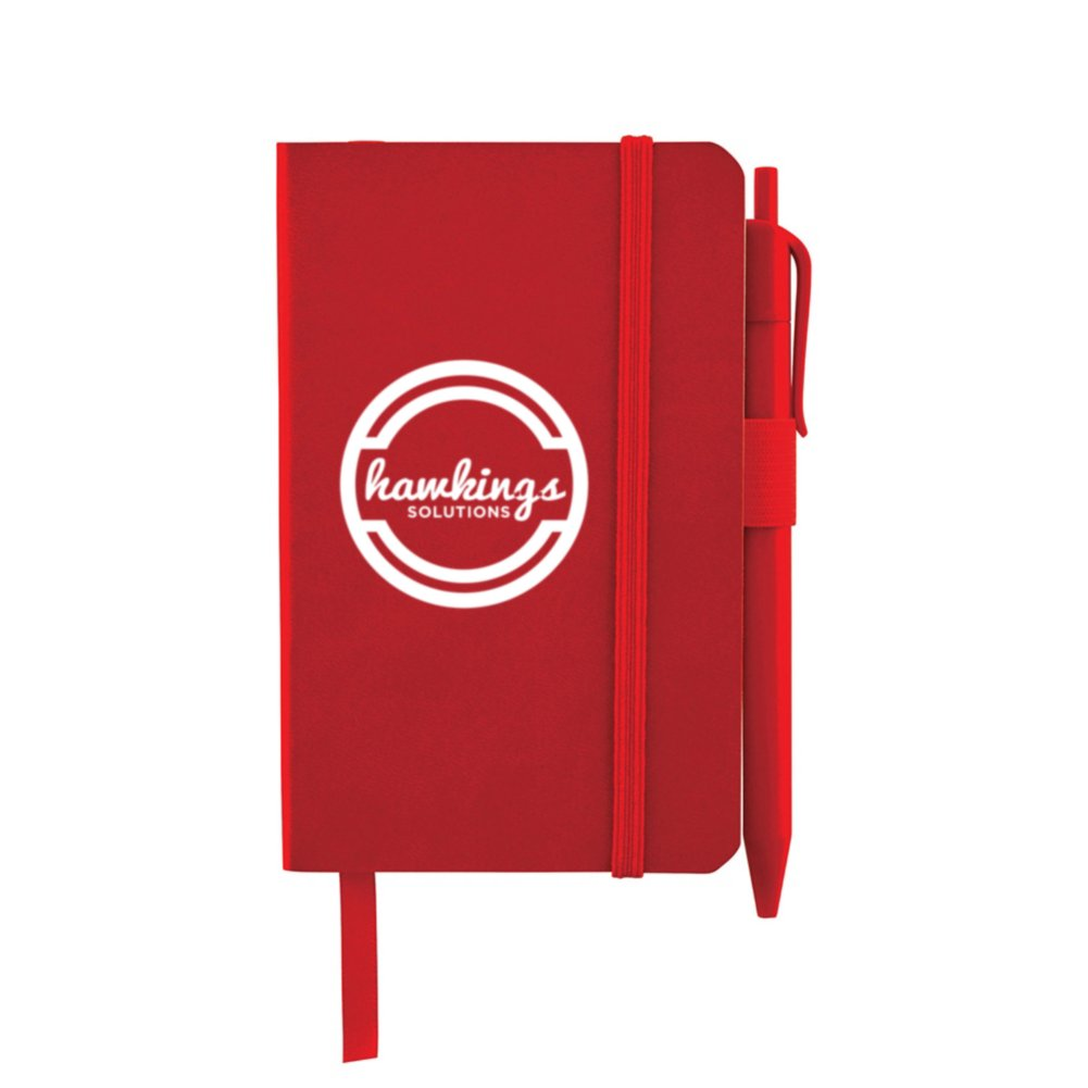 View larger image of Add Your Logo:  Pocket-Sized Journal & Pen Set