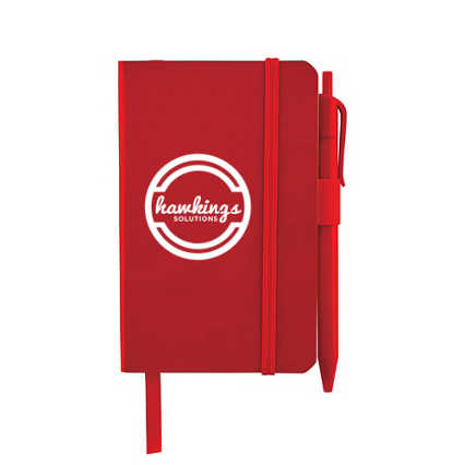Add Your Logo:  Pocket-Sized Journal & Pen Set
