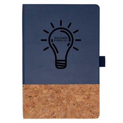 Add Your Logo:  Cork Accent Journal