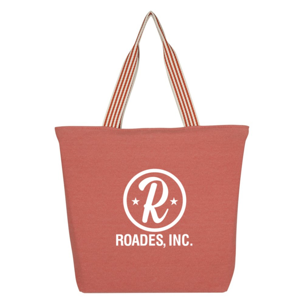 View larger image of Add Your Logo: You Can Handle This Striped Tote