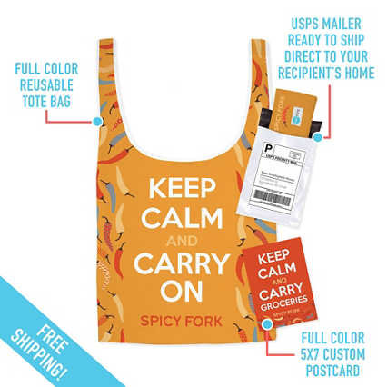 Add Your Logo: Reusable Tote Care Package