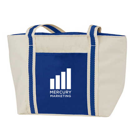 Add Your Logo:  Plain Jane Canvas Lunch Tote