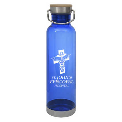Add Your Logo:  Tritan Easy Carry Water Bottle