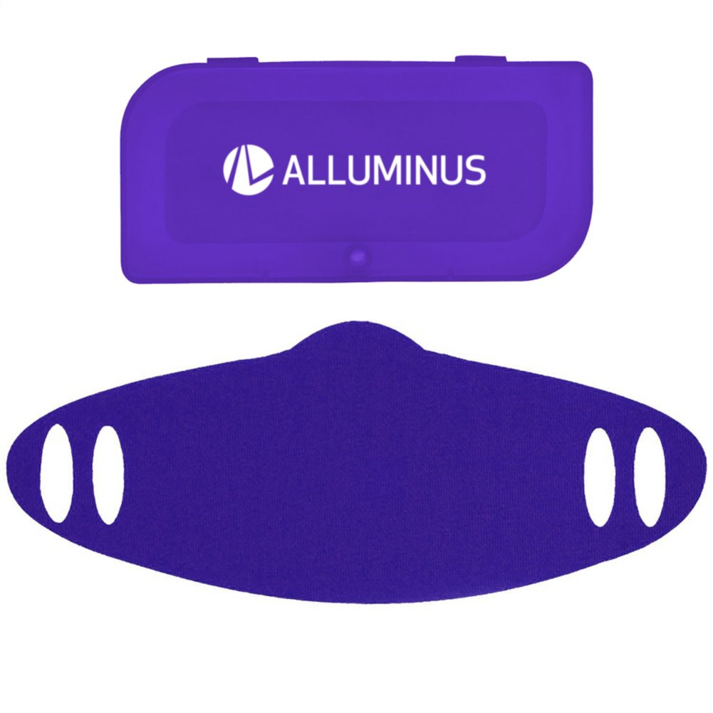 View larger image of Add Your Logo: Fabric Mask + Carry Case