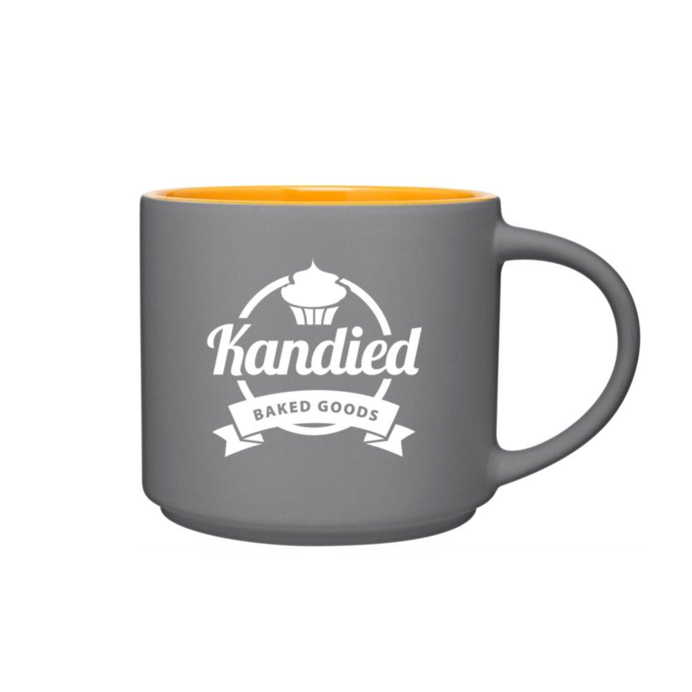 View larger image of Add Your Logo: Two Tone Tango Mug - Grey