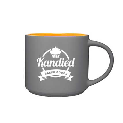 Add Your Logo: Two Tone Tango Mug - Grey