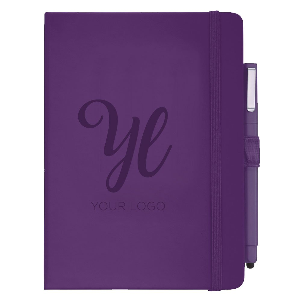 View larger image of Add Your Logo: Soft Touch Journal & Pen Set