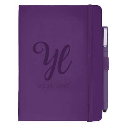 Add Your Logo: Soft Touch Journal & Pen Set