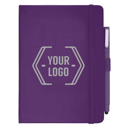 Add Your Logo: Soft Touch Journal & Pen Set