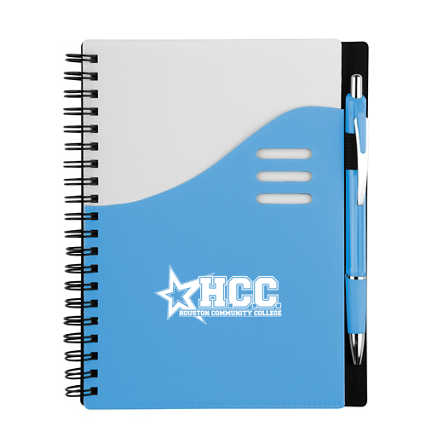 Add Your Logo: Color Wave Notebook
