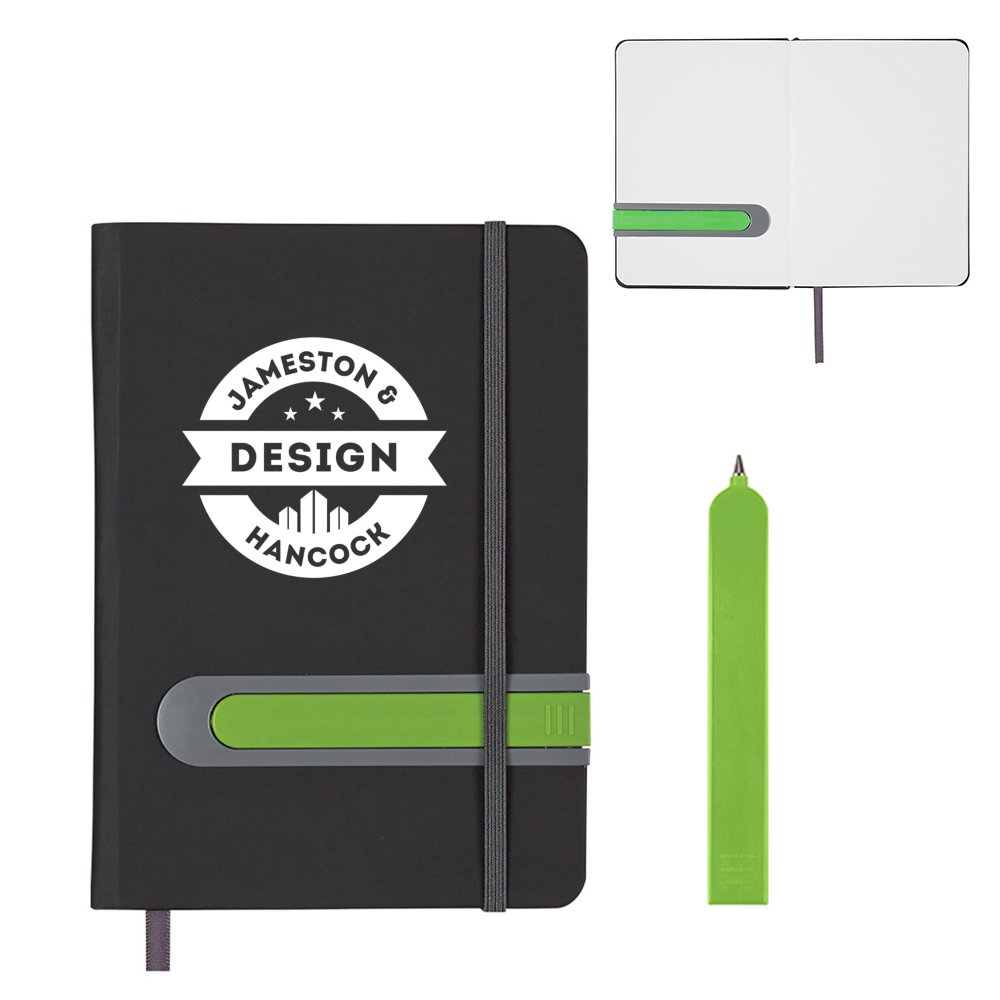View larger image of Add Your Logo: Tucked Away Pen and Journal Set