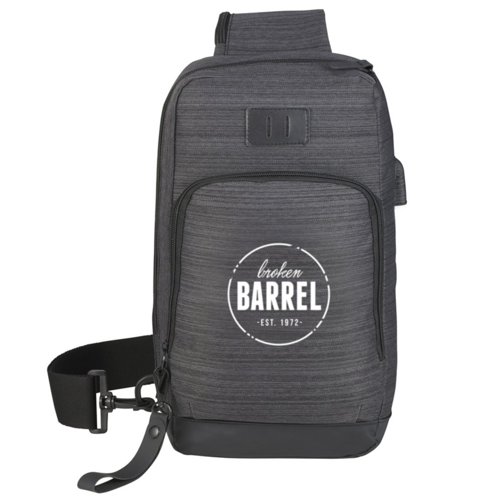 View larger image of Add Your Logo: Sling Pack with USB Port