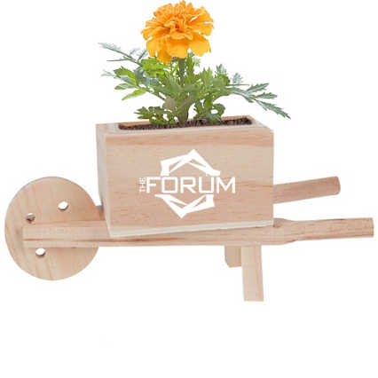 Add Your Logo: Wooden Wheel Barrow Blossom Kit