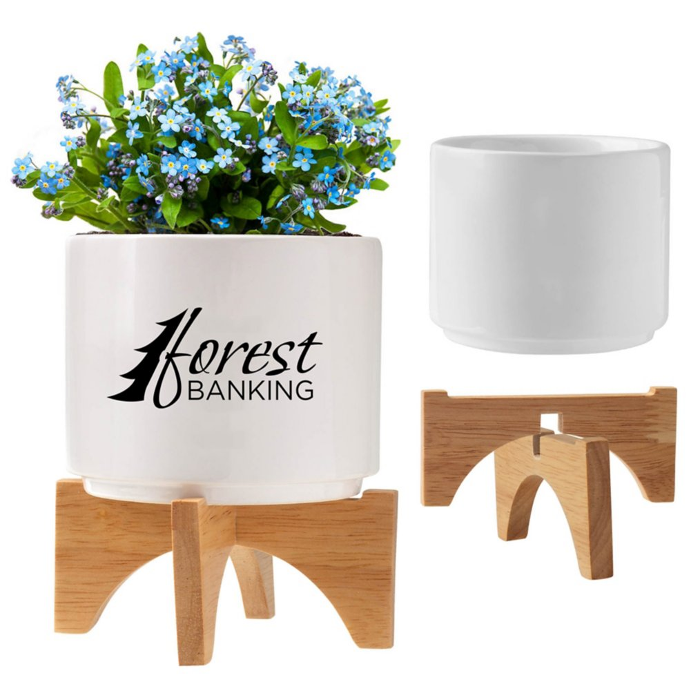View larger image of Add Your Logo: Mod Vibes Ceramic Planter Kit