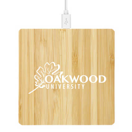 Add Your Logo: Bamboo Wireless Charging Pad