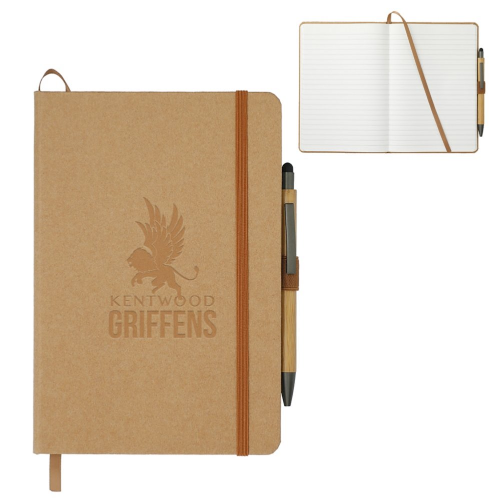 View larger image of Add Your Logo: Washable Kraft Stone Journal