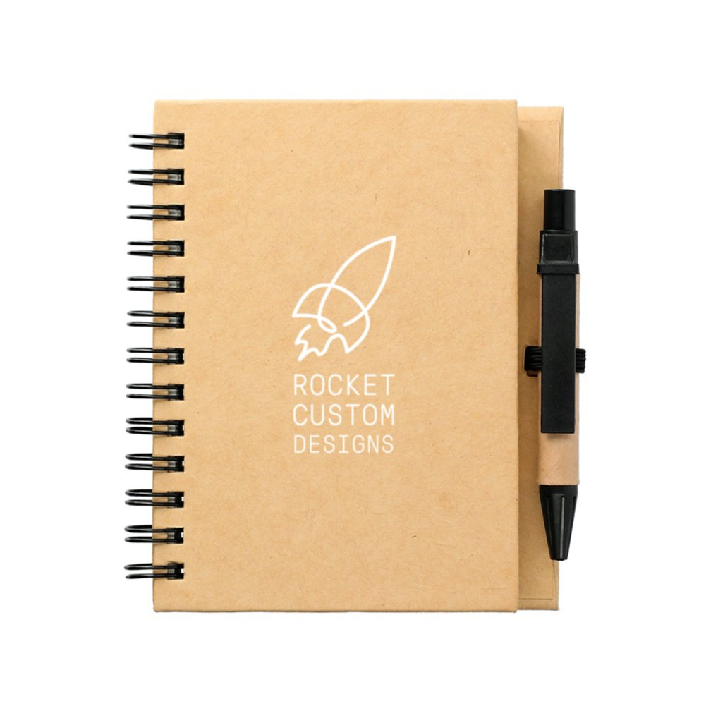 View larger image of Add Your Logo: Eco Stone Mini Notebook and Pen