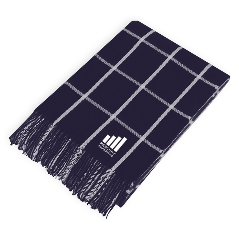 View larger image of Add Your Logo: Fringed Throw Blanket